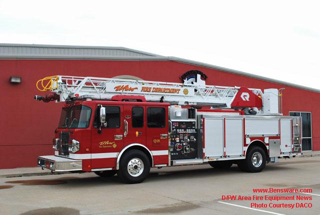 Dallas Fort Worth Area Fire Equipment News