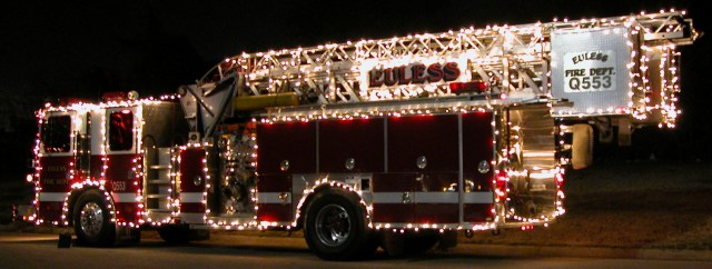 Euless Quint 553 in Christmas Parade of Lights